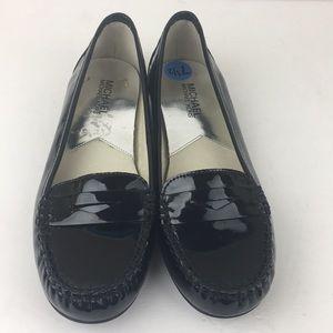 Michael Kors Black Patent Leather Loafer Flats 7.5